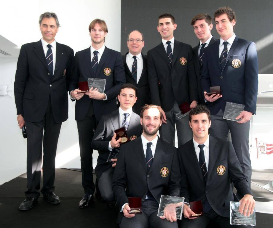 Sept champions du monde monégasques ont été récompensés par le prince Albert II.