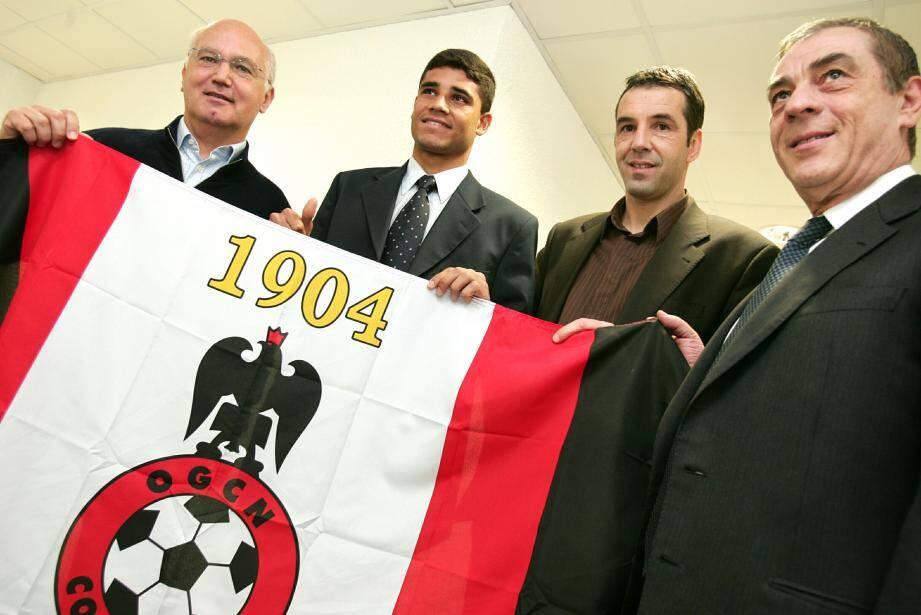 Maurice Cohen (à gauche) et Roger Ricort (à droite) avaient accueilli Ederson durant leur collaboration entre 2005 et 2009.