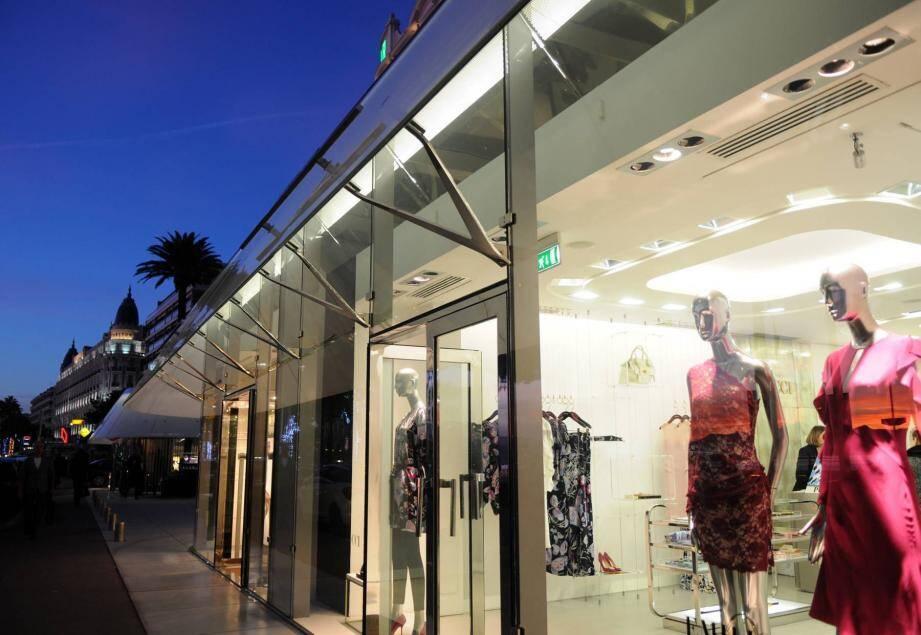 Une boutique de luxe à Cannes (image d'illustration).