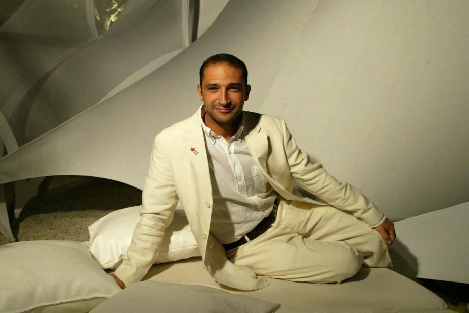 Thomas Fabius, à l'occasion d'une Soirée blanche tropézienne en 2005.