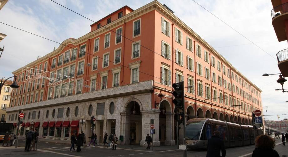 Les Galeries Lafayette de Nice.