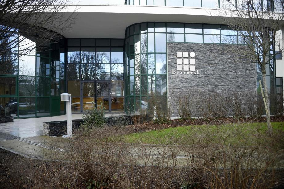 A picture taken on Januray 15, 2016 shows the Biotrial laboratory building in Rennes where a clinical trial of an oral medication left one person brain-dead and five hospitalised.The study was a phase one clinical trial, in which healthy volunteers take the medication to