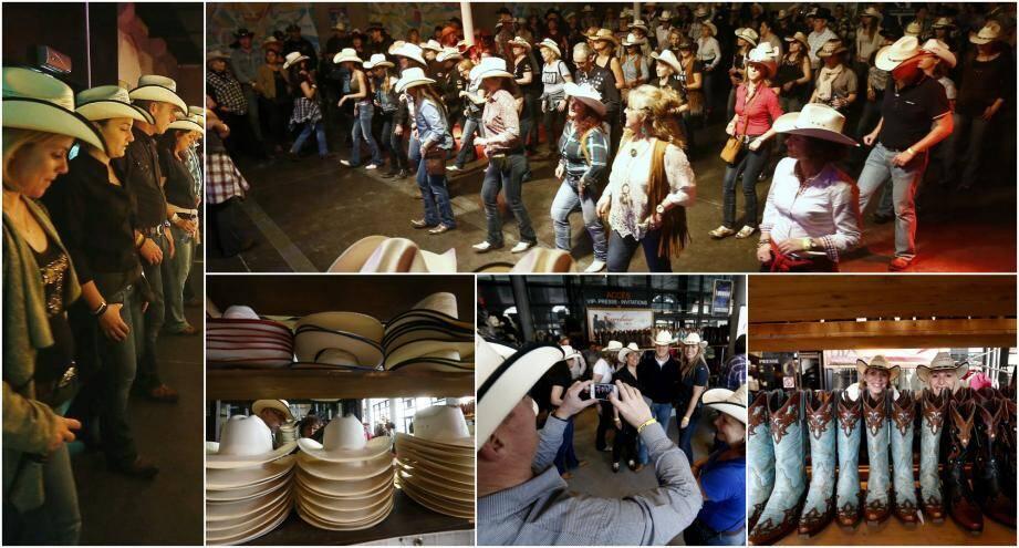 Santiags aux pieds et chapeaux vissés sur la tête, ce sont ainsi plus de 700 participants venus de toute la France qui ont battu la piste du Zénith Oméga