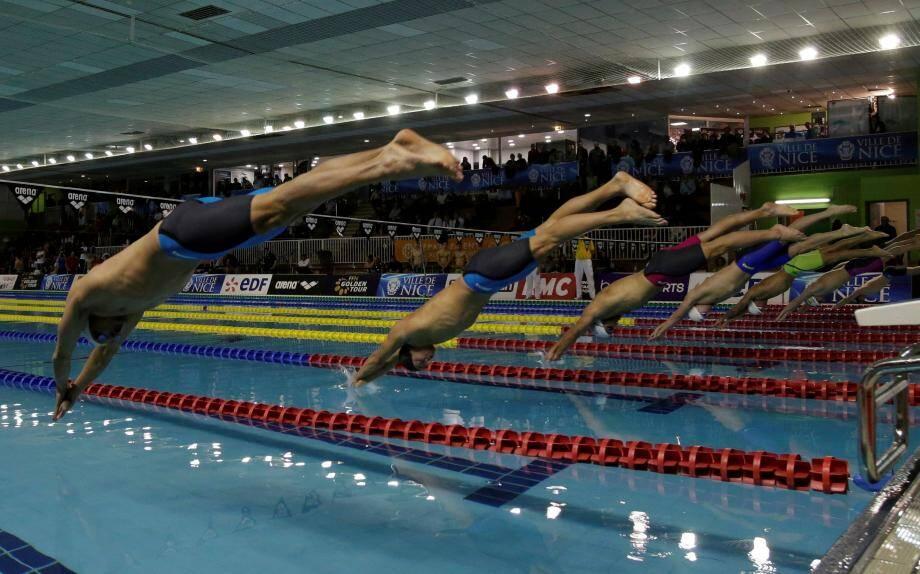 ©PHOTOPQR/NICE MATIN Franck FERNANDES NICE LE  22/01/2016 ; Golden tourMeeting de natation à la piscine Jean Boin