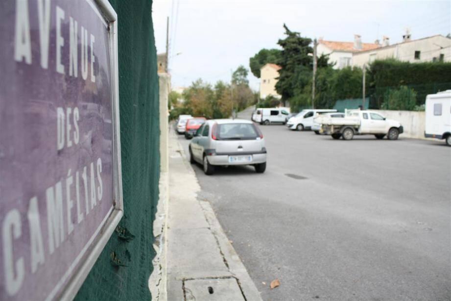 L'avenue des Camélias est dans un secteur très pavillonnaire à quelques jets de pierre des commerces du Val-Fleuri.