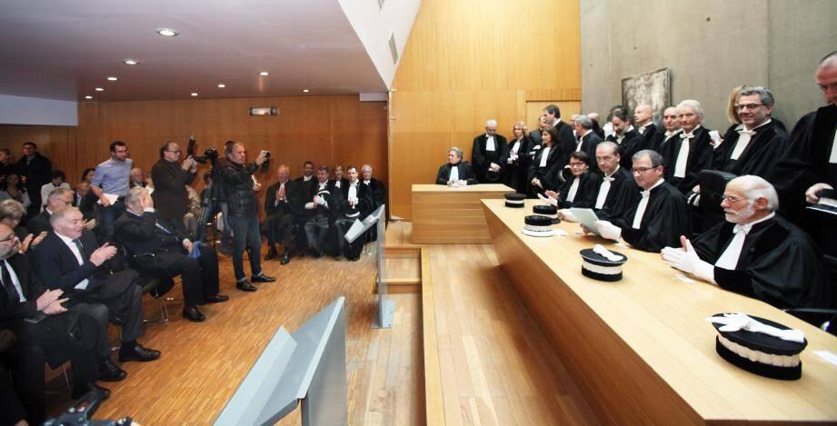 Le président Fabien Paul, entouré de ses confrères magistrats, en a appelé à l'esprit d'entreprise, hier, lors de la rentrée solennelle du tribunal niçois.