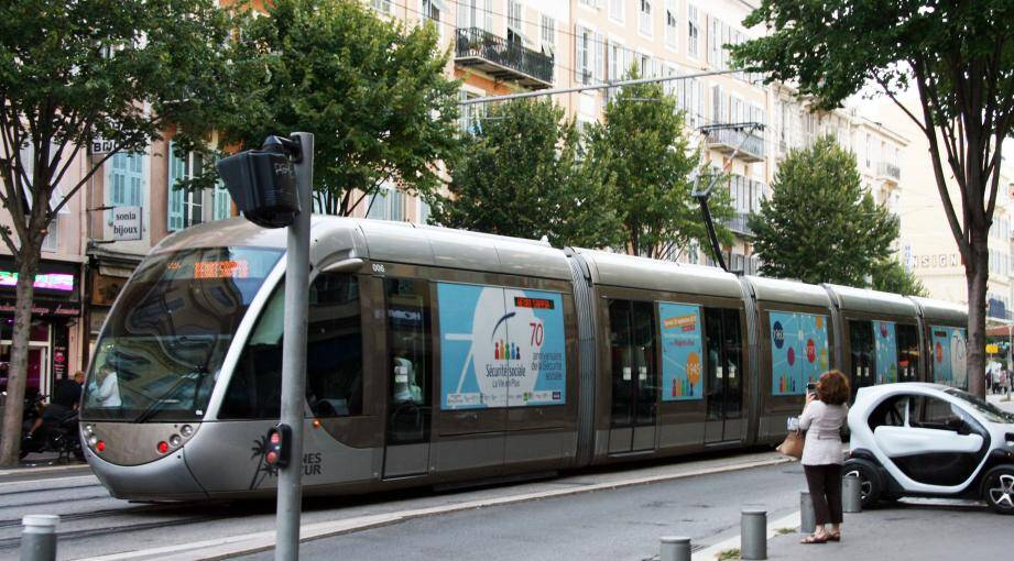 Illustration du tram à Nice.