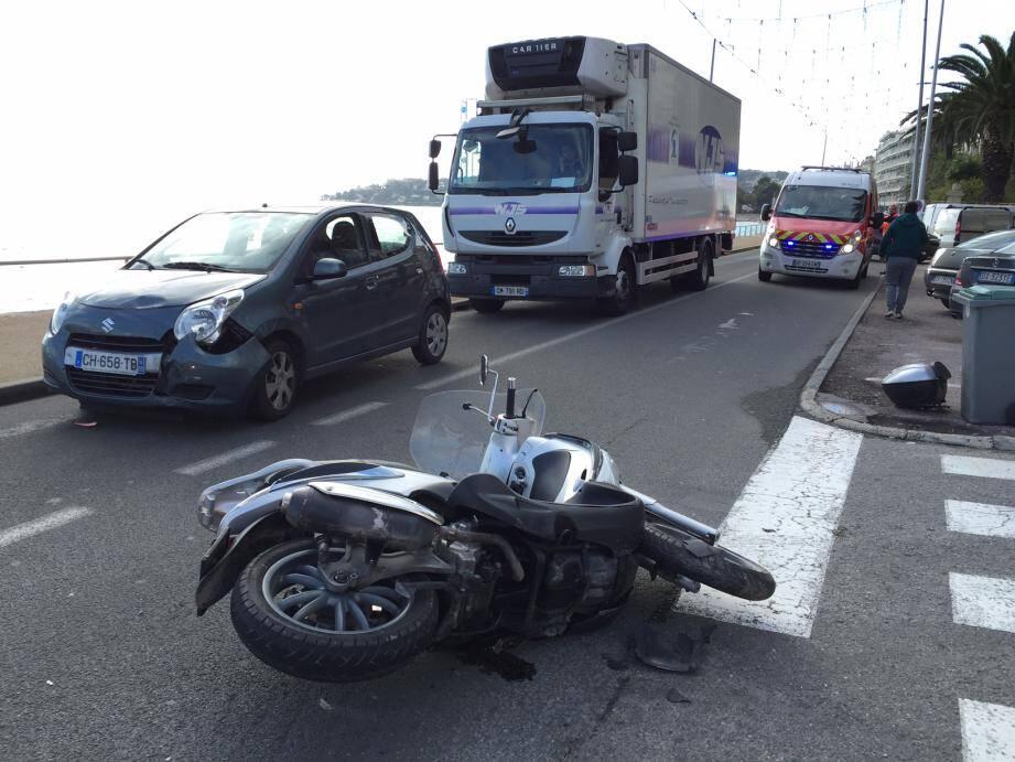 Un accident à Menton (Photo d'illustration)