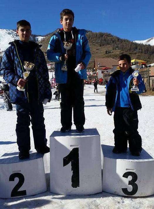 Podium enfants snow