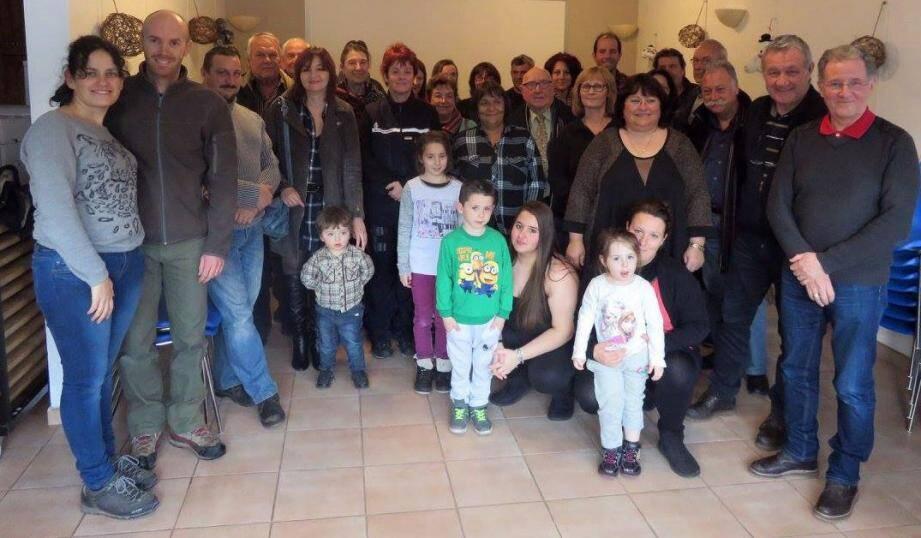 Plusieurs maires de communes voisines s'étaient joints à la population pour cette cérémonie des vœux.