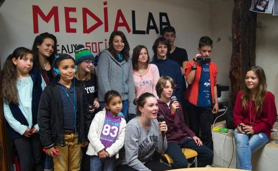 La jeune équipe du Médialab de Puget-Théniers.