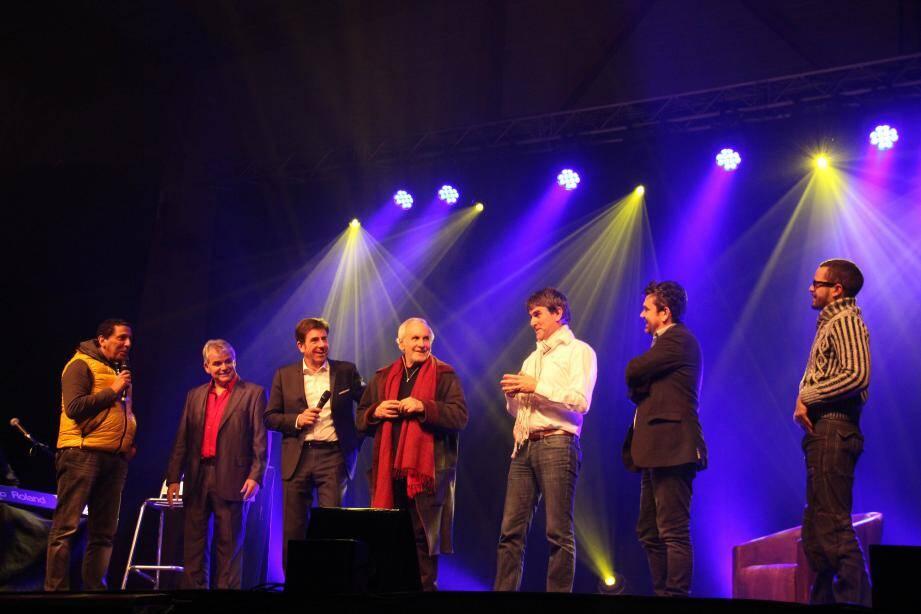 Une belle brochette entourant le député-maire de Valberg à l'occasion de la soirée d'ouverture.
