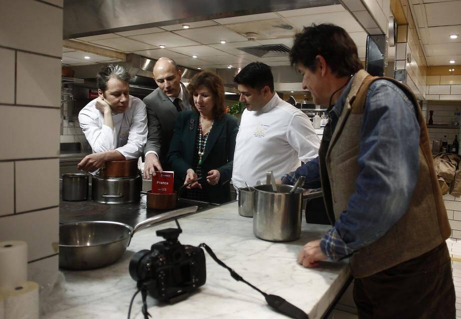 Séance photos pour la nouvelle équipe étoilée de La Passagère, restaurant du Belles Rives.