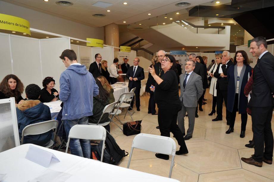 Cinq cents jeunes de la Principauté ont rencontré des professionnels pour découvrir les métiers et les perspectives d'emploi en Principauté(DR)