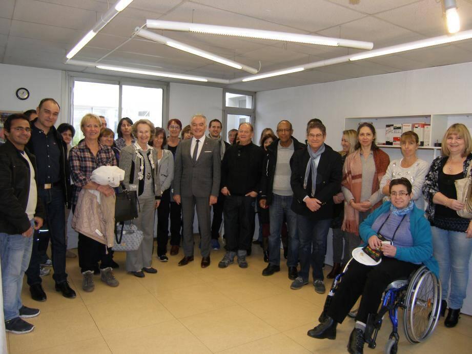 Les vœux ont eu lieu en présence du président du syndicat, Richard Galy, du directeur, Philippe Chotard, et de Michèle Almès, représentant la ville du Cannet.
