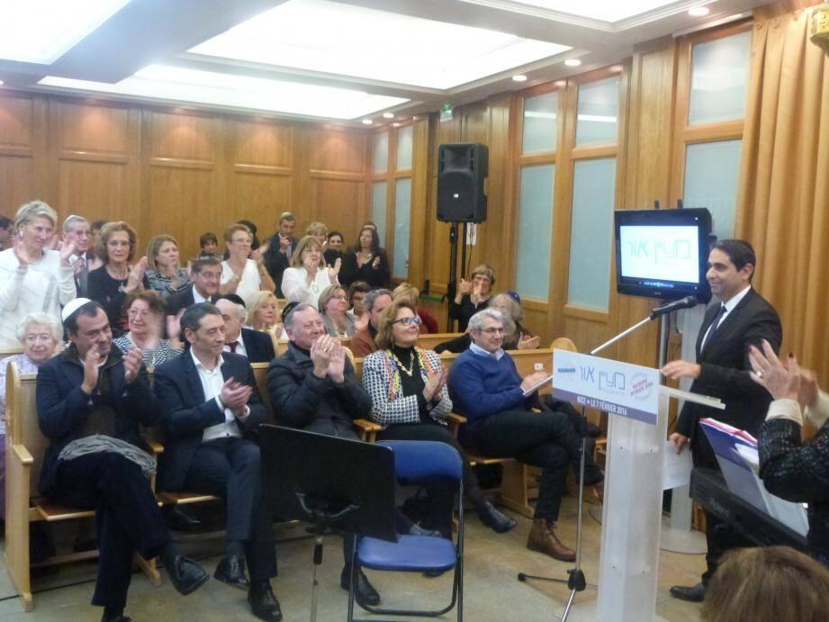 Devant Michel Boujenah et des élus, le président Franck Médioni a rappelé l'importance du pluralisme.