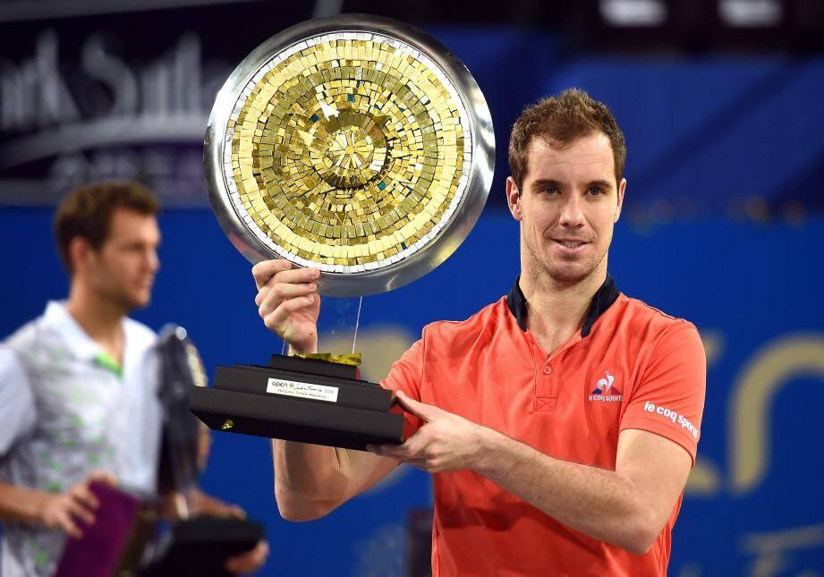 Troisième succès à Montpellier (2013, 15, 16) pour Richard Gasquet qui a dominé Paul-Henri Mathieu en finale.