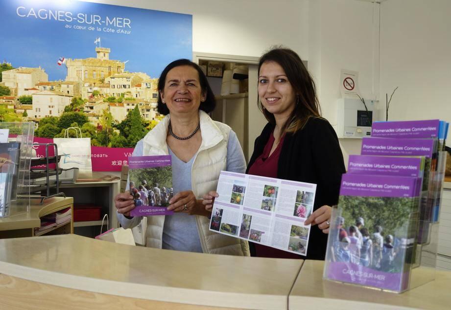 Au gré des saisons, Danielle Munier (à gauche) propose différents itinéraires. Jessica est une des deux guides en charge des visites.