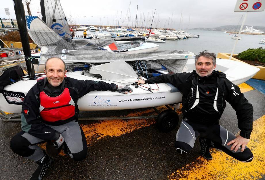 À gauche, Laurent Hay, à droite, Michel Audoin.