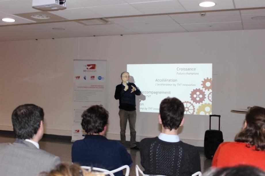 Patrick Valverde, directeur de TVT Innovation, a présenté le Training Camp 2016.