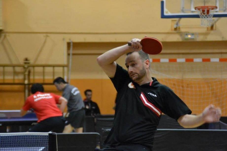 Florian Prosper, le capitaine de l'équipe de prénationale, a marqué l'ultime point de la victoire acquise de haute lutte contre Mouans-Sartoux.