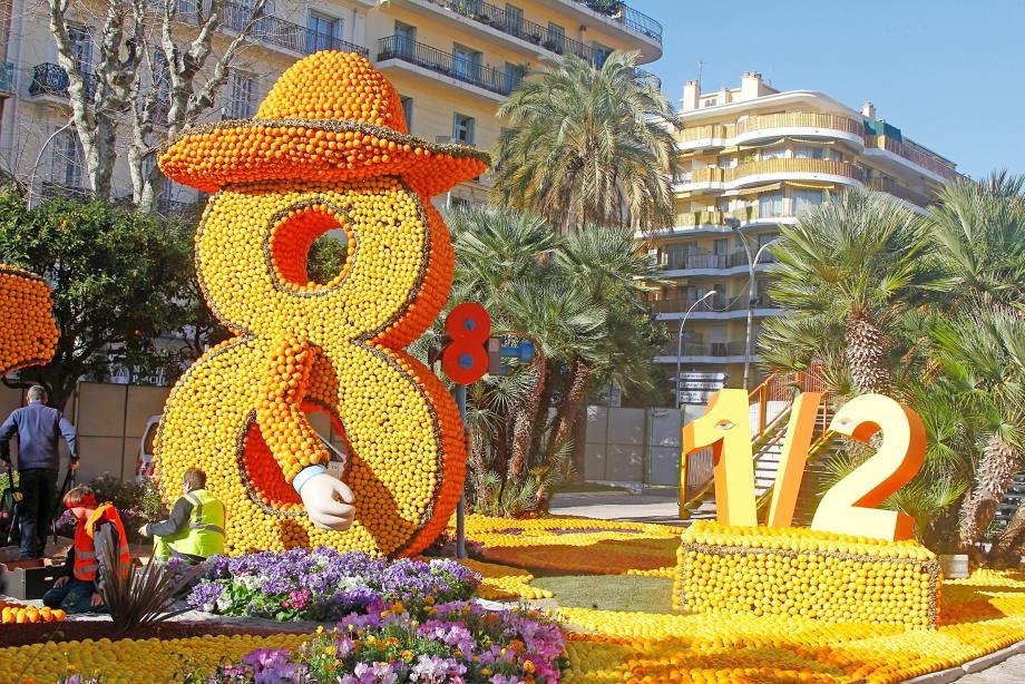 Les jardins Biovès, qui accueillent l'exposition des motifs d'agrumes sur le thème du cinéma italien, sont fin prêts pour l'ouverture au public dès aujourd'hui. ça tourne à Menton !