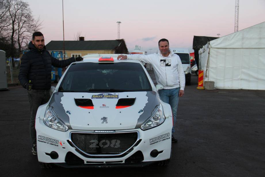 Au volant de leur bolide, Jean-Marc Falco et Jonathan Boueri ont réalisé leur rêve ce week-end : participer au mythique rallye de Suède.