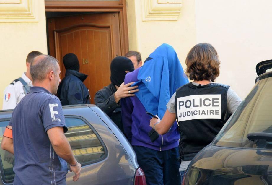 Interpellation d'un individu suspecté de recruter pour le djihad, en 2012 à Cannes.