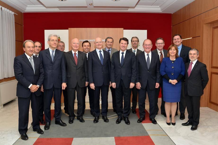 La réunion était coprésidée par le ministre d'État Serge Telle, Hadelin de La Tour-Du-Pin, ambassadeur de France à Monaco, et Adolphe Colrat, préfet des Alpes-Maritimes.