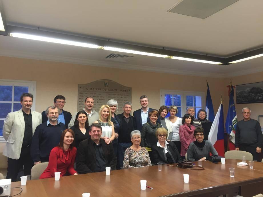 La mairie de Sainte-Agnès accueillait hier ses homologues tchèques dans le cadre du jumelage qui l'unit à la commune de Benesov.