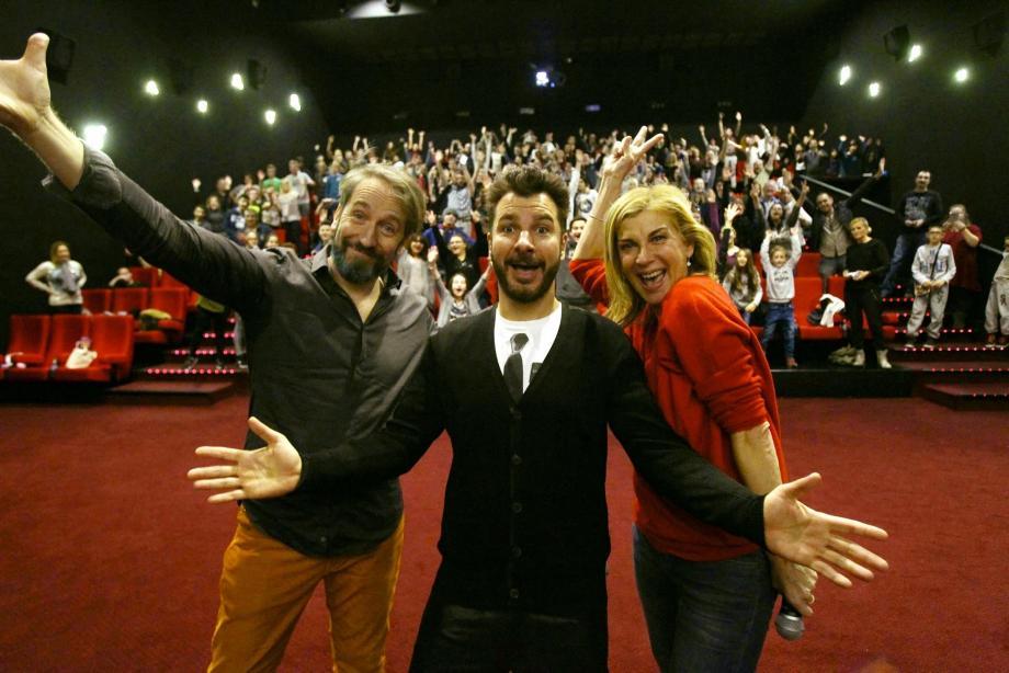 Le réalisateur Yann Samuell et les acteurs Michaël Youn et Michèle Laroque ont donné vie au « fantôme de Canterville ».