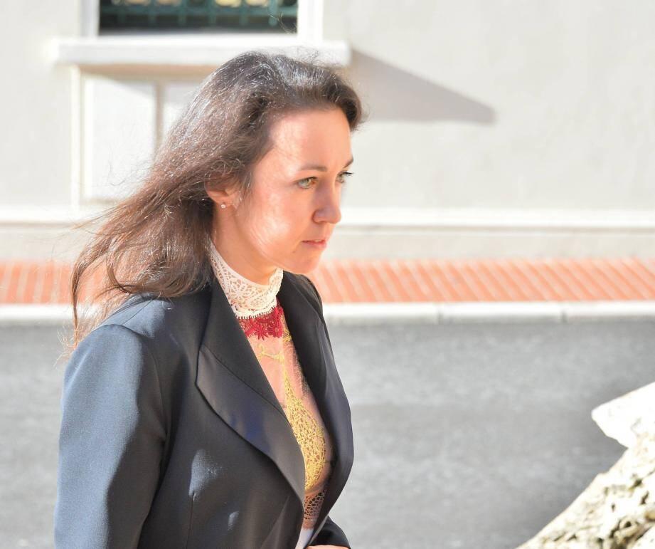 Tetiana Bersheda, à son arrivée au Palais de Justice de Monaco.