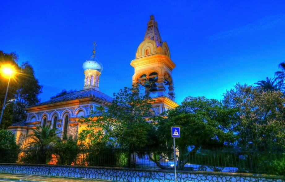 L'église russe de Saint-Michel-Archange à Cannes.