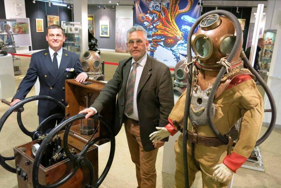 Jean Patrick Paszula et Enrico Porfirione, deux amoureux du monde marin, ont préparé une exposition exceptionnelle sur les scaphandriers.