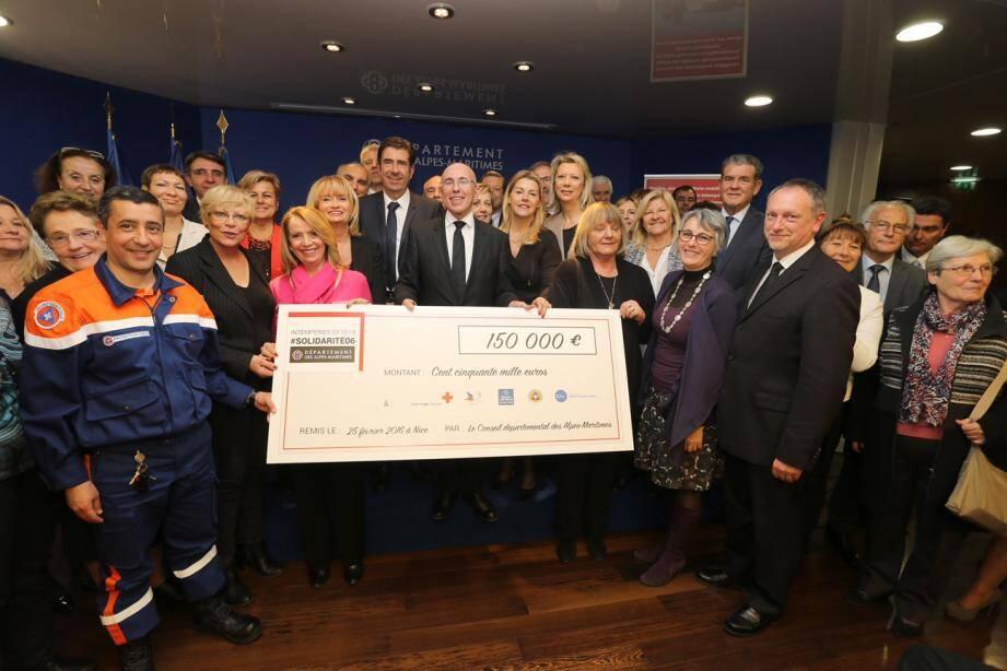 Une subvention extraordinaire de 150 000 euros a été reversée par le Département aux associations qui ont œuvré sur les inondations. (DR)