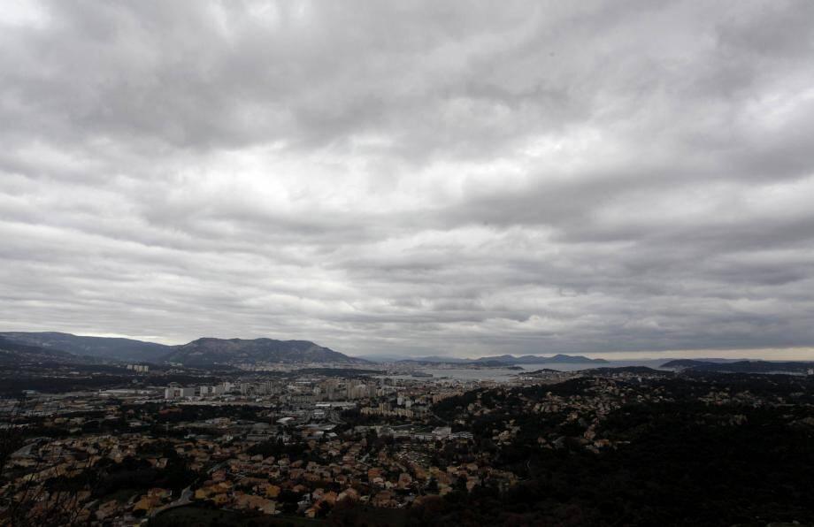 Illustration ciel gris