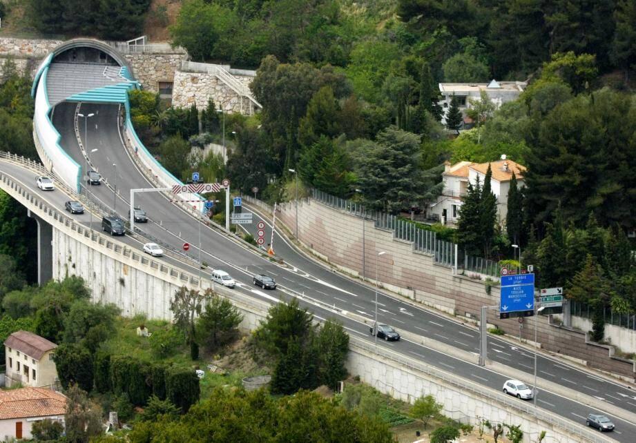 La sortie 56 Monaco sur l'A8.