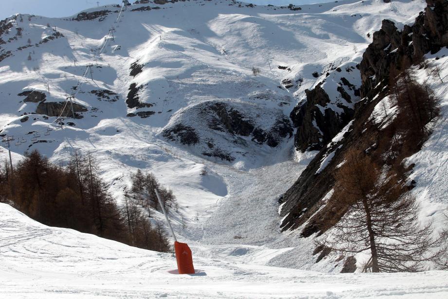 Une avalanche à Auron (image d'illustration).