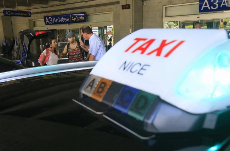 Illustration taxi Nice.