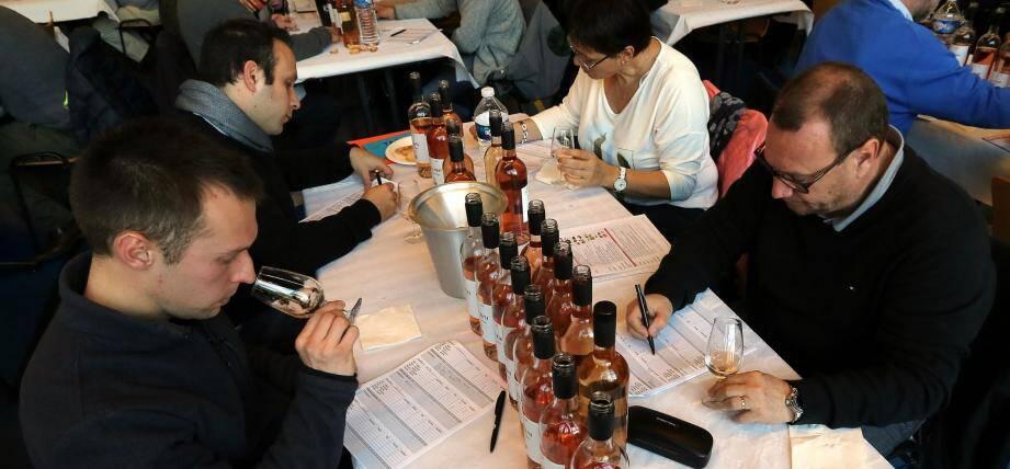 Disposés sur plus de soixante-dix tables, les 267 jurés ont noté les vins varois durant plus de deux heures hier matin. Les meilleurs seront envoyés à Paris pour prétendre à une médaille lors de la finale du Concours des vins le 27février au Salon de l'agriculture.