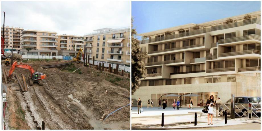 L'entreprise Triverio, filiale du groupe Vinci construction, s'active sur le chantier du Béal.