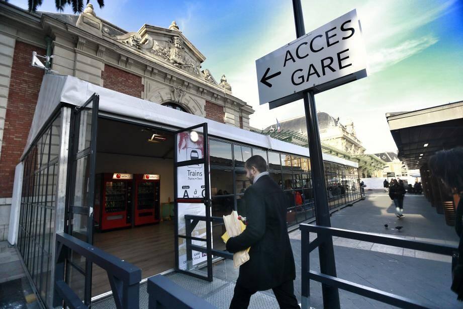 La gare de Nice en travaux.
