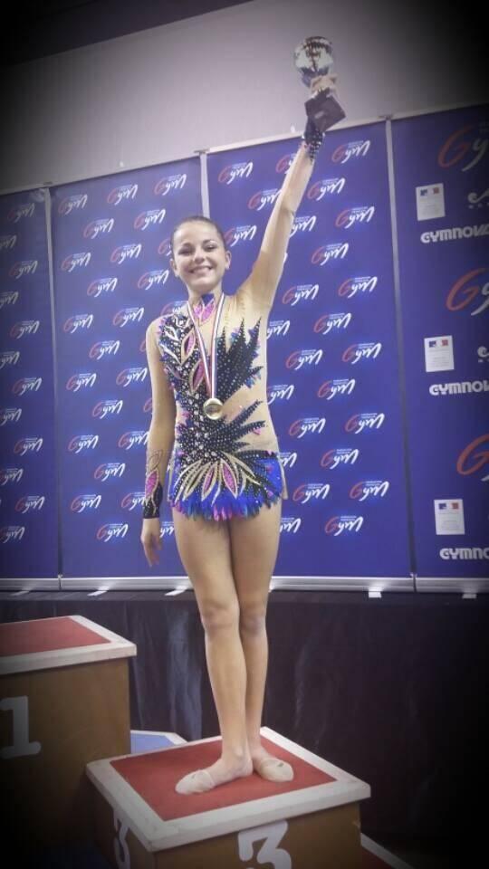 Chloé Dasseville a décroché une médaille de bronze.