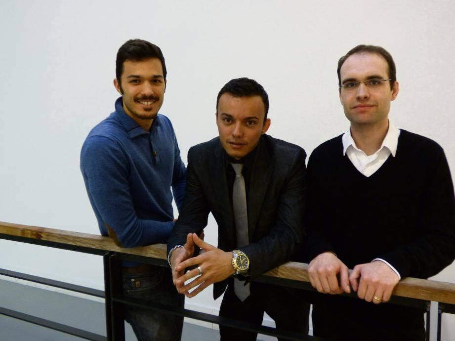Olivier Malafronte (Pocket Confidant), Jordan Boulay (DCC) et Julien Gardès (Biomanda).