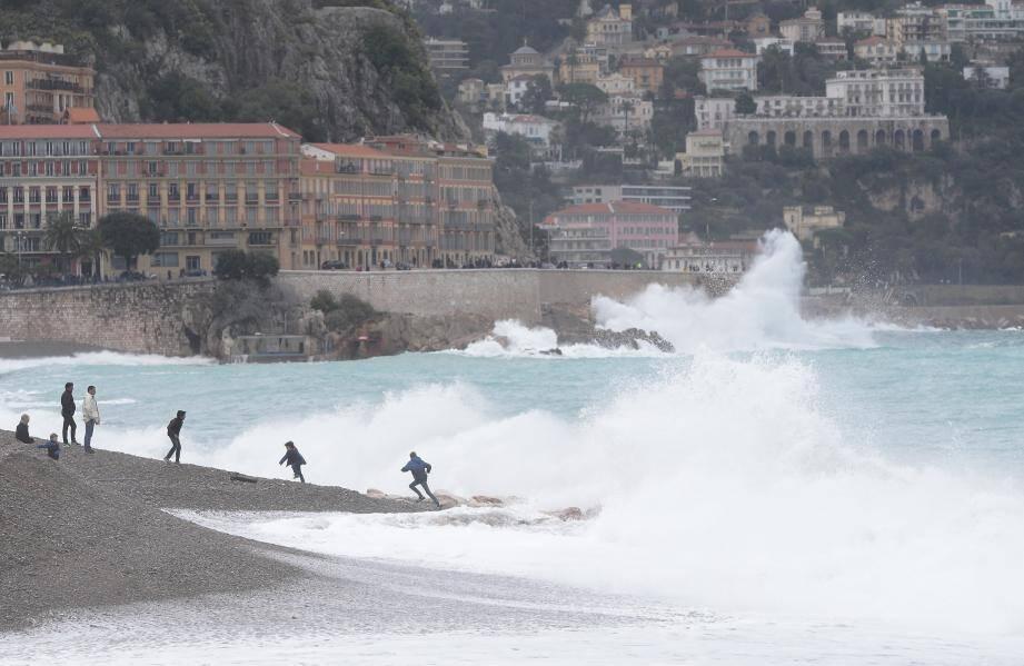Un coup de mer sur la Promenade des Anglais (image d'illustration)