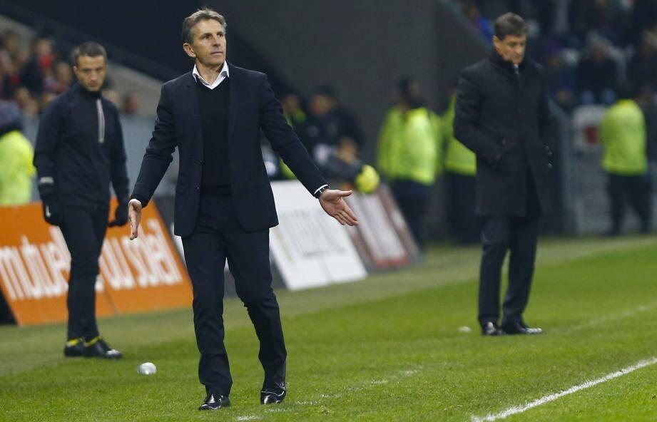 L'entraîneur niçois est surtout satisfait de la 2e période de ses joueurs.