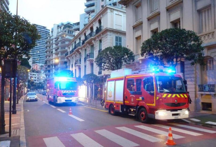 Lors de l'intervention des pompiers.