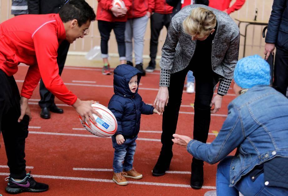 La princesse Charlène et son fils Jacques.