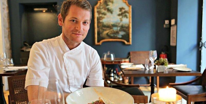 """Jan Hendrik, dans son restaurant """"Jan""""."""