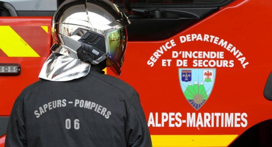 Illustration sapeurs-pompiers des Alpes-Maritimes
